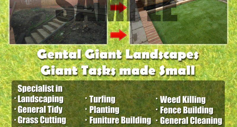 flyer example gardener